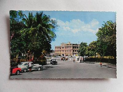 Vintage 50s Colour Postcard. ADEN - The Crescent Hotel Steamer Point. Cars/ Road