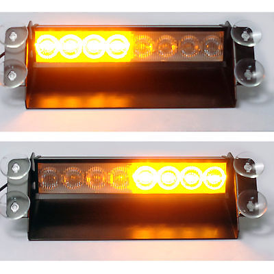 Emergency Amber LED Flashing Warning Recovery Beacon Light Cars Truck Van Lorry