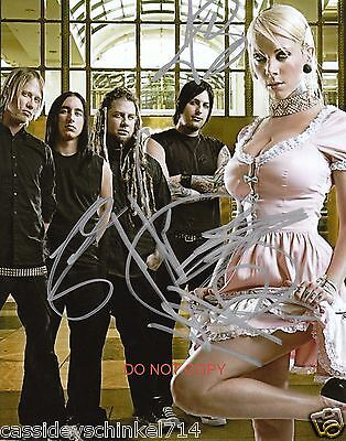 "In This Moment band Reprint Signed 8x10"" Photo #2 RP ALL 5 Members Maria Brink"