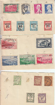 Monaco 1933-1939 To 25Fr Inc 20F Etc High Cv Stamps From  Early Approvals Book