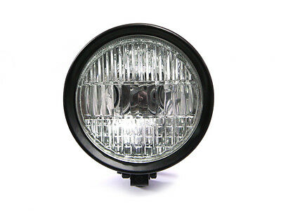 "5.9"" 12V / 55W Matt Black Bottom Mount Motorcycle Motorbike Aluminium Headlight"