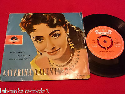 """CATERINA VALENTE If Hearts Could Talk 7"""" EP 195? RARE POLYDOR Spain (VG-/VG++) 5"""