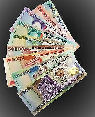 MOZAMBIQUE FULL SET OF 9 BANKNOTES 500-500000 METICAIS UNC P134-142-currency