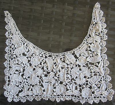 vintage LACE COLLAR fine white cotton small 21cm wide x 19.5cm baby, child, doll