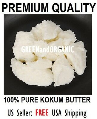 100%Pure ORGANIC Raw KOKUM BUTTER Fresh NATURAL Cold Pressed 1 2 4 8 16 55 oz Lb