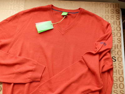 5bc744b2 New Hugo Boss Men Red Veeh Zelchior Pro Golf Cotton Cardigan Suit Jumper  Sweater