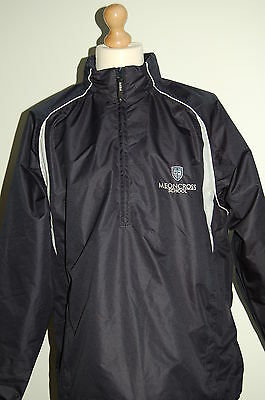 Meoncross School Waterproof Tracksuit Top, Navy/White Unisex Size XL Brand New