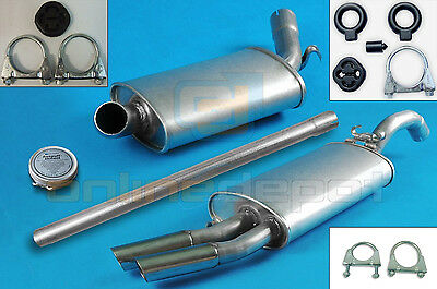Full exhaust from CAT + mounting kit VW GOLF II 1.8 GTI Hatchback 85-87