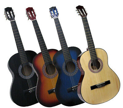 "36"" Acoustic Guitar Beginners Students Adult 3 Nylon 3 Metal Strings 3/4 Size"