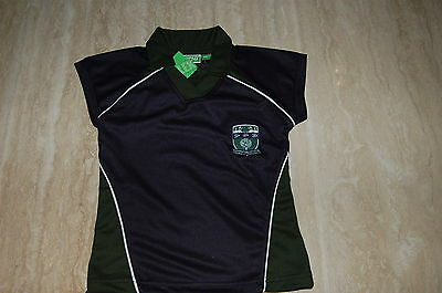 """Copthall School Girls' Games Top, Navy/Multi Size : 26"""" Chest BNWT (B4)"""