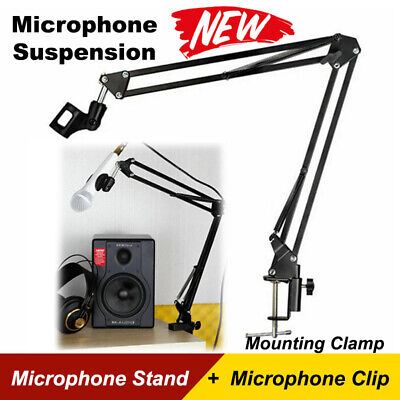 Professional Mic Microphone Holder Suspension Boom Arm Desktop Stand Mount