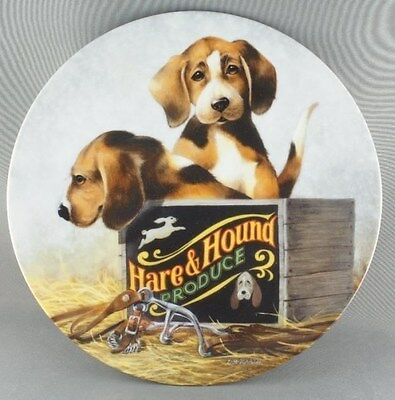Lynn Kaatz Boxed in Field Trips Collector Plate Puppy Dog