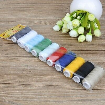 NEW Free shipping 2Pcs 100% Polyester Spool Sewing Thread For Hand Machine
