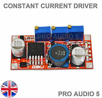 1x LM2596 LED Driver DC-DC Step-down Adjustable CC/CV Power Supply Module - UK