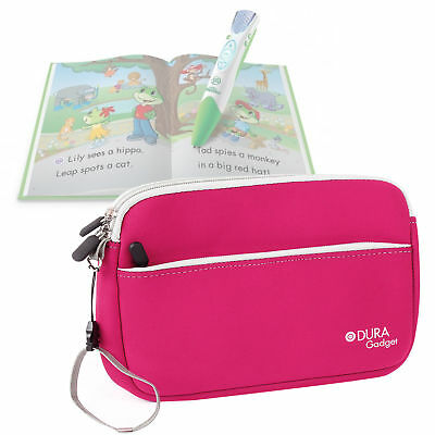 Pink Neoprene Case for LeapFrog LeapPad Reading and Writing System + Books