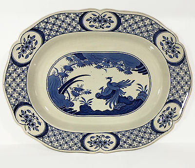 """c1915 Furnivals 'Old Chelsea' Rd647812 - Large 13-3/4"""" Oval Meat Plate/Platter"""