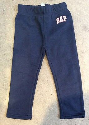 BABY GAP NAVY BLUE SWEATPANTS WITH SMALL WHITE LOGO ON LEFT LEG - 3y BNWT
