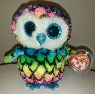 "Ty Beanie Boo's ~ ARIA the 6"" Owl ~ 2015 NEW ~ Claires Exclusive ~ IN HAND"