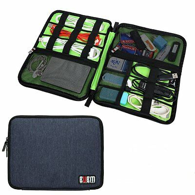 BUBM Universal Cable Charger Organizer Electronics Accessories Travel Case -L-