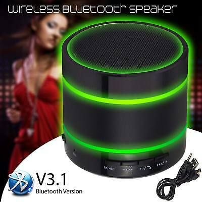 Wireless Bluetooth Mini Portable Speaker for iPhone iPad MP3 Changing LED Lights