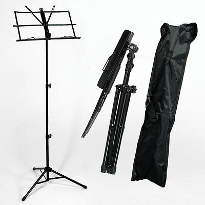 Metal Adjustable Sheet Music Stand Holder Folding Foldable with Carry Case BagHT