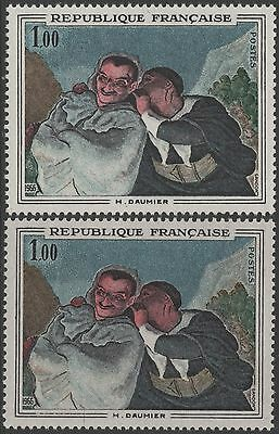 """FRANCE TIMBRE N° 1494 """" DAUMIER CRISPIN SCAPIN VARIETE COULEUR"""" NEUFxx TTB K133A"""