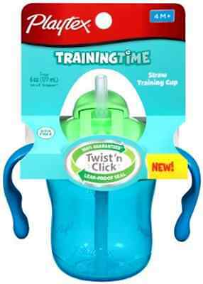 Playtex 6 Ounce Toddler Baby Spill Proof Infant Training Straw Sippy Cup