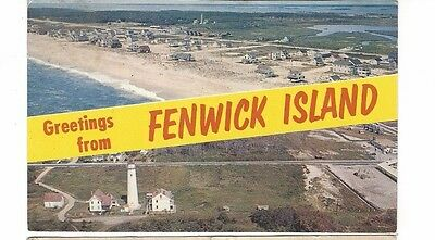 1971 postcard- Greetings From Fenwick Island, Delaware. Two photo aerial.