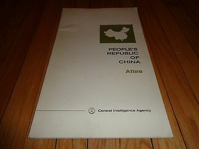 People's Republic of China Atlas CIA Central Intelligence Agency 1971