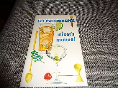 Fleischmann's Mixer's Manual Vintage Cocktail Book Recipes Guide Bartending