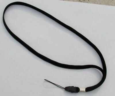 3 Quick Release Black Neck Lanyards ~ Straps for USB/Thumb Drives Detachable End