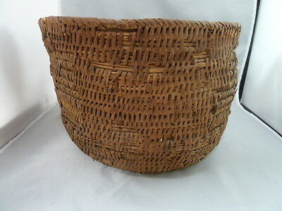 "Native American Weave Large Basket Bowl. Nice Design. Approx. 11.5"" Diam x 8"" T"
