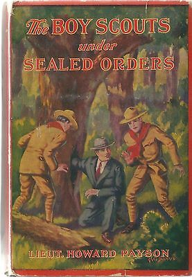 The Boy Scouts under Sealed Orders Lt. Howard Payson Book Dustjacket