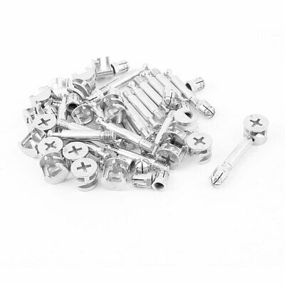 Knock Down Furniture Cam Lock Fitting Dowel Assembly 20 Sets
