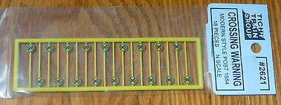 Tichy Train Group Modern Crossing Warning Signs Kit #2621 18 Pieces N Scale New