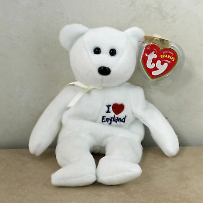 Ty Beanie Baby England I love - MWMT (Bear UK Country Exclusive)