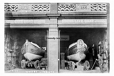 pt4593 - Whitby Lifeboats in Boathouse , Yorkshire - photo 6x4