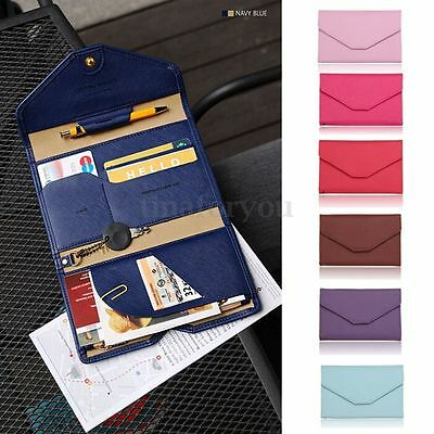 HOT Travel Passport Holder Wallet ID Card PU Leather Ticket Protector Organizer
