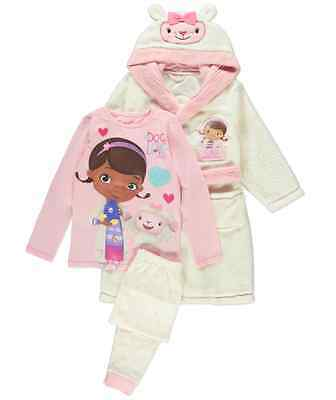 New Doc McStuffins 'Doc With Love' Pyjama and Dressing Gown Set Age 18 - 24 Mth