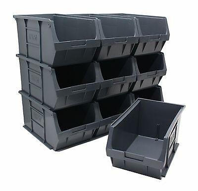 NEW British Made 100% Recycled Plastic Parts Storage Bins Boxes Box 10 x Size 5