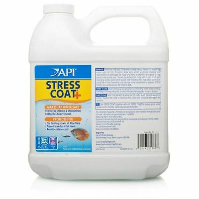 API Stress Coat + 1.9 L ltr Makes Tap Water Safe Protects Fish WATER CONDITIONER