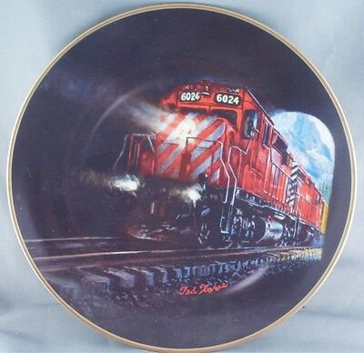 Ted Xaras Canadian Pacific Last Spike Centennial Plate 2 RARE Limited to 7500