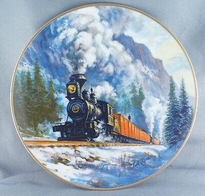 Ted Xaras Canadian Pacific Last Spike Centennial Plate 1 RARE Limited to 7500