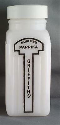 Griffiths Milk Glass Paprika Shaker