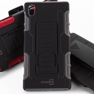 CoverON for Sony Xperia Z5 - Rugged Belt Clip Holster Combo Phone Cover Case
