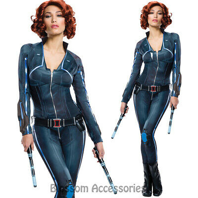 CL604 Deluxe Ladies Black Widow Avengers 2 Age of Ultron Fancy Dress Up Costume