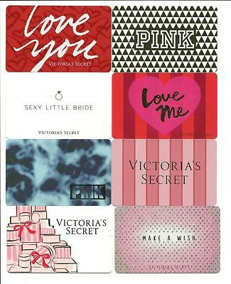 Lot (8) Victoria's Secret Gift Cards No $ Value Collectible Card