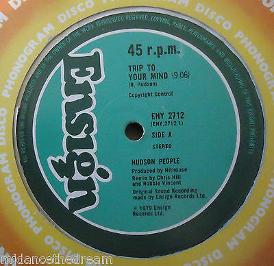 "HUDSON PEOPLE ~ Trip To Your Mind ~ 12"" Single"
