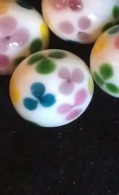 HOM Glass Marbles collectable 16mm Beautiful Handmade marble - Daisy