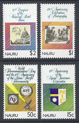 1989 Nauru Anniversaries Set Of 4  Fine Mint Muh/mnh